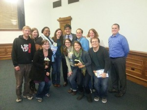 TLAM Student Group with Sherman Alexie